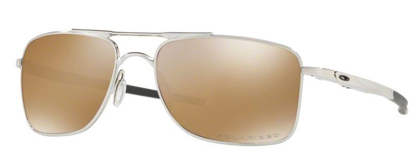 Oakley Gauge 8L Iridium Polarized Sonnenbrille Chrom CD5EvS