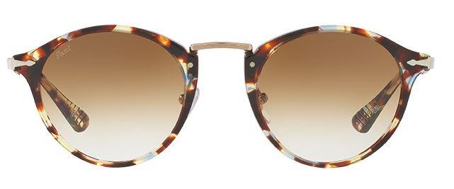 Persol PO3166S Sonnenbrille Havanna mit Blau 105851 49mm 95kL5R