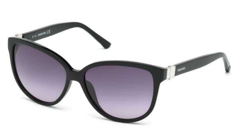 Swarovski Damen Sonnenbrille » SK0120«, schwarz, 01B - schwarz/grau