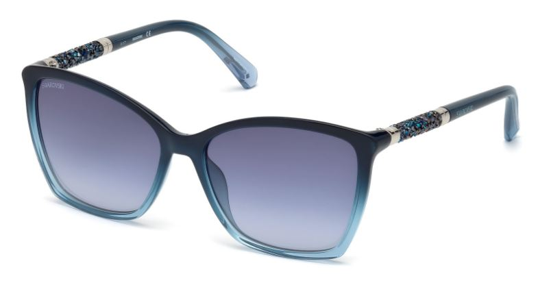 Swarovski Damen Sonnenbrille » SK0148«, blau, 90W - blau/blau