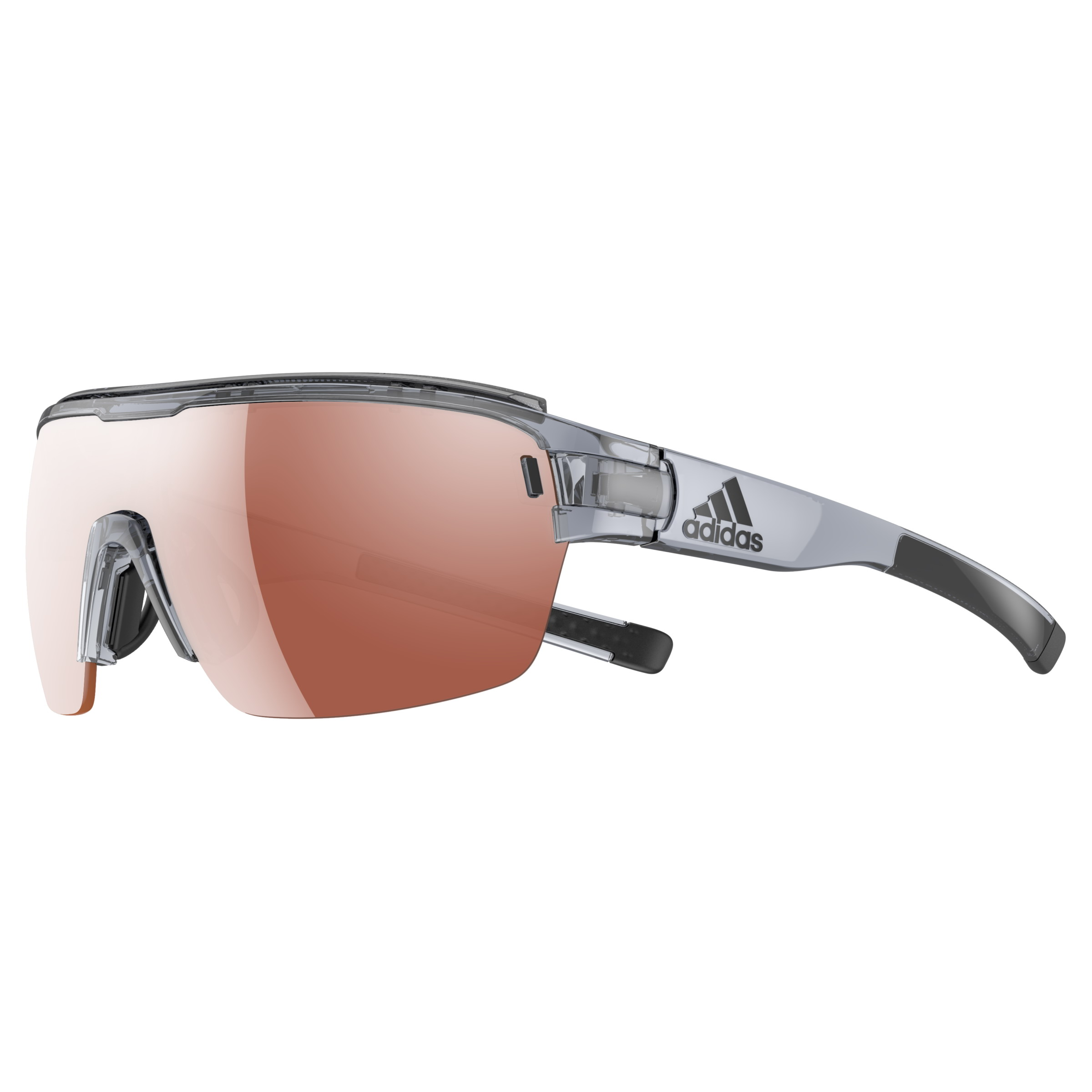 Adidas Brille ad05 ZONYK AERO Pro grey shiny 6600 LST Active silver (Large) skrKmOgQ5